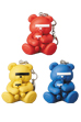 KEYCHAIN UNDERCOVER BEAR RED/YELLOW/BLUE