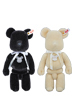 BE@RBRICK × STEIFF BLACK/WHITE