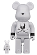BE@RBRICK mastermind JAPAN WHITE CHROME Ver. 100% & 400%
