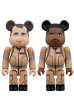 BE@RBRICK GHOSTBUSTERS 100% 2PC SET Peter Venkman/Winston Zeddemore