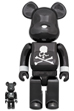 BE@RBRICK mastermind JAPAN BLACK CHROME Ver. 100% & 400%