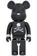 BE@RBRICK mastermind JAPAN BLACK CHROME Ver. 1000%