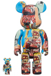 BE@RBRICK JEAN-MICHEL BASQUIAT #6 100% & 400%