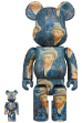 BE@RBRICK「Van Gogh Museum」Self-Portrait with Grey Felt Hat 100% & 400%
