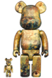 BE@RBRICK PUSHEAD #5 GOLD 100% & 400%