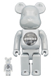 BE@RBRICK atmos WHITE CHROME Ver. 100% & 400%