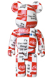 BE@RBRICK atmos × Coca-Cola 1000% CHECKERBOARD