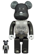 BE@RBRICK 2G BLACK CHROME 100% & 400%