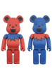 BE@RBRICK GRATEFUL DEAD DANCING BEARS 400%